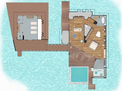 План виллы 2 Bedroom Ocean Lagoon House